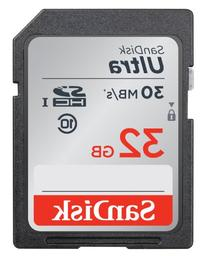 SanDisk Ultra 32GB SDHC Class 10/UHS-1 Flash Memory Card Speed Up To 30MB/s- SDSDU-032G-U46