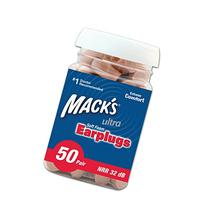 Mack's Ear Care Ultra Soft Foam Earplugs, 200 Earplugs