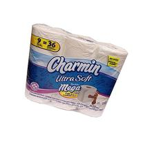 Charmin Ultra Soft Toilet Paper 9 Mega Rolls = 36 Regular