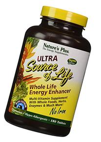 Ultra Source Of Life With Lutein-No Iron Nature's Plus 180