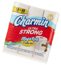Charmin Ultra Strong Toilet Paper 12 Mega Rolls = 48 Regular Rolls