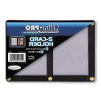 Ultra Pro UPSCR2CD Screwdown - Black & Clear Frame - Double