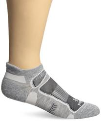 Balega Ultralight No Show Socks, Grey/White, Large