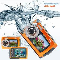 Orange Aqua5800  Underwater Digital Camera with Two Screens