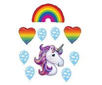 Unicorn Rainbow Party Balloon Decoration Kit