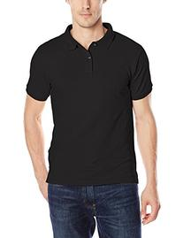 IZOD Uniform Young Men's Short Sleeve Pique Polo, Black,