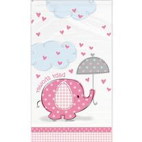 Unique Baby Shower Tablecover - Pink Umbrellaphants