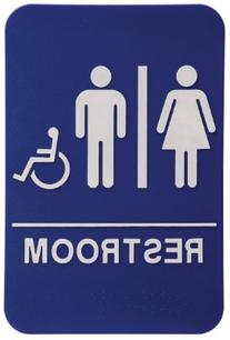 Unisex Restroom Sign Blue/White - ADA Compliant