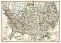 United States Executive Poster Size Wall Map