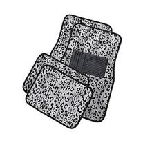 OxGord Universal Fit FrontBack Seat Leopard Carpet Mat