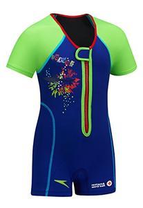 Speedo Kids' UPF 50+ Begin to Swim Thermal Swimsuit, Pink, 6