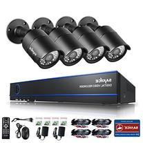 SANNCE 4CH 1080P CCTV DVR Recorder with 4 HD 1980*1080P