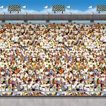 BEISTLE COMPANY Upper Deck Stadium Backdrop