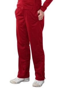 Upscale Ladies 100% Polyester Tricot Track Pants - True Red/
