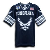 Rapid Dominance US Air Force Military Football Jersey - Navy