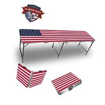 Us Flag  Theme 8 Foot Folding Tailgate Table