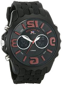 U.S. Polo Assn. Sport Men's US9117  Black Silicone Analog