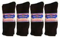 Physician's Choice Diabetic Crew Socks - 12 Pair 9-11 Black