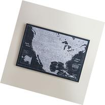 USA Travel Map Pin Board - Modern Slate