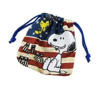 USA Peanuts Snoopy Drawstring Marbles Travel Bag/Pouch