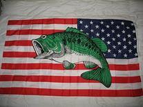 Usa United States Bass Fish Fishermans 3X5 Flag Super