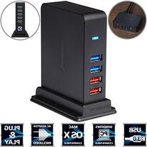Sabrent 7 Port USB 3.0 HUB + 2 Charging Ports with 12V/4A