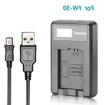 Neewer USB Battery Charger for FW50 Rechargeable Battery for
