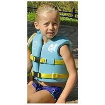USCG Approved Child's Vinyl Vest with Leg Strap - Color: Aquamarine, Size: Small
