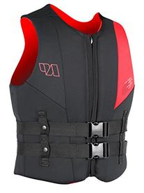 NP Surf USCG Neoprene Multi Sport Flotation Vest, Black/Red
