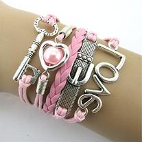Doinshop New Useful Cute Nice Fashion Infinity Heart Pearl
