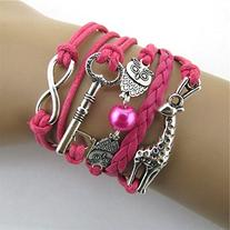 Doinshop New Useful Cute Nice Infinity Owl Giraffe Key