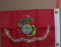 12X18 Usmc Ensed Marines Biker Motorcycle Or Boat Flag