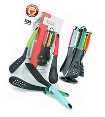Utensils Set, 7-piece Nylon Cooking & Serving Kitchen Tools