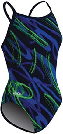 Dolfin Swimwear Ceres V Back - Blue/Green, 30