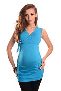 Maternity V Neck Top 5104 Variety of Colours , Sky Blue