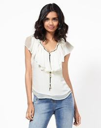 Morgan V Neck With Detail Chain Top