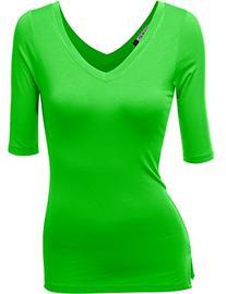 Haslra Women's V-neck Sexy Top_95% Modal_Stretch Top