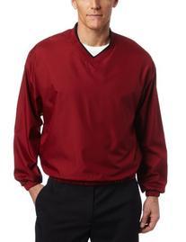 PGA TOUR Men's V-Neck Wind Shirt, Biking Red, X-Large