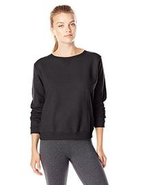 Hanes Women's V-Notch Pullover Fleece Sweatshirt, Ebony, XX-