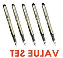 Pilot V Pen  Disposable Fountain Pens, Black Ink, Small