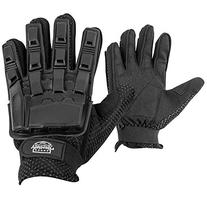 Valken V-TAC Full Finger Plastic Back Airsoft Gloves, Black