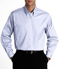 Van Heusen V0067 Mens Long-Sleeve Blended Pinpoint Oxford -