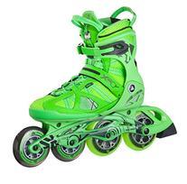 K2 Skate Men's V02 100 X Pro Inline Skates, Green/Yellow, 9