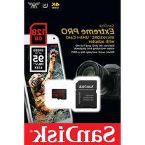 SanDisk 128GB 95MB/s Extreme PRO V30 microSDXC Memory Card