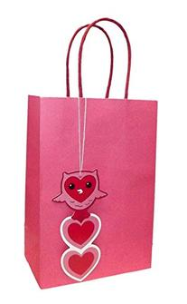 VALENTINE SMALL LIGHT PINK GIFT BAG WITH GIFT TAG