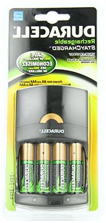 Duracell value Charger with 4 AA StayCharged Batteries 1 Kit