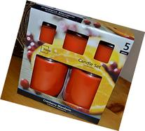 Mainstays 5 pc Value Pack Jar Candle Cranberry Mandarin,