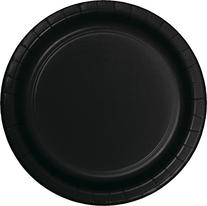 Creative Converting Value Pack Paper Luncheon Plates, Black