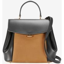 Nina Ricci Vanesio Leather/Suede Shoulder Bag: Black/Brown