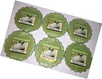 Yankee Candle Lot of 6 Vanilla Lime Tarts Wax Melts